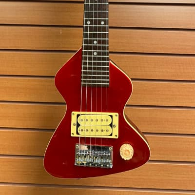 Erlewine Chiquita Travel Electric Guitar Red w/ Hardshell Case for sale