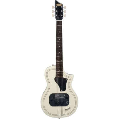 Supro 1261AW Ozark Antique White Limited Edition Electric Guitar with Gig Bag for sale