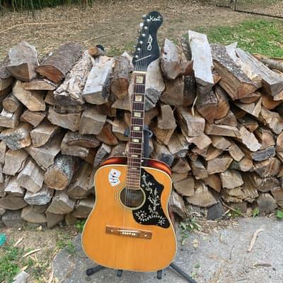 Kent Iberia Western Style 60s Sunburst Acoustic Guitar Japan Rare for sale