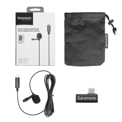 Saramonic LAVMICROU3A Omnidirectional Lav Mic with 2m USB-C Cable
