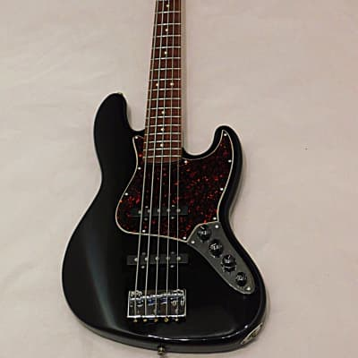 Fender Deluxe Active Jazz Bass V  5 string Bass Guitar  1998 Black made in mexico