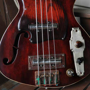 Handmade Postal Dixie Flyer Fretless Bass Armstrong Lipstick Pickups Antique Red New Video for sale