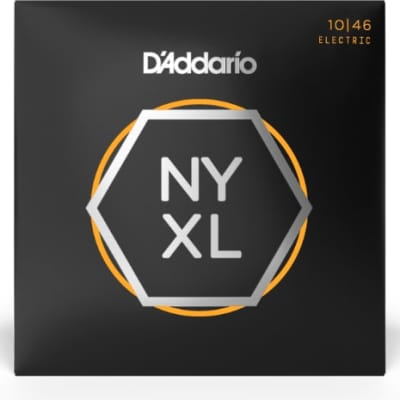 D'Addario NYXL1046 Nickel Wound Electric Guitar Strings Regular Light 10-46