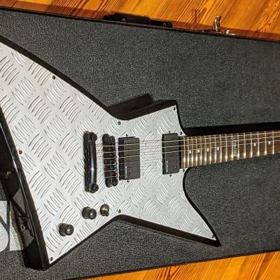 ESP LTD 2002 EX351D Explorer Diamond Plate Guitar + Case, EMG Pickups Hetfield, VGC