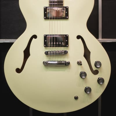 Palermo Shelby Vintage Cream Semi-Hollow Thinline Guitar W/ 335 Hard Case NEW for sale