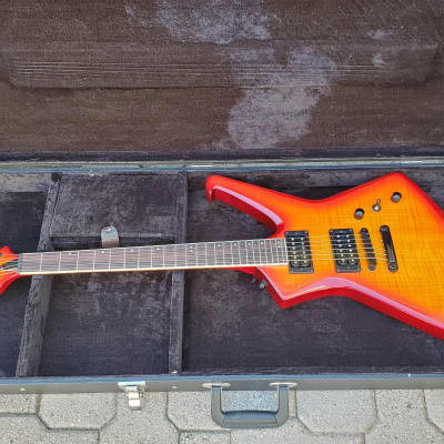 Blakhart  HEX 6 VC Electric Guitar Flame Blood Orange with Case! for sale