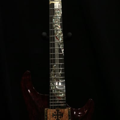 Warrior  J Dran Dragon Slayer. 1 of a kind. Piezo Bridge Pickup. Burled Redwood, Mahogany neck. for sale