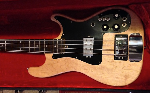 Rare Vintage Carvin Lb70sb 77 Stereo Maple Bass Guitar Reverb