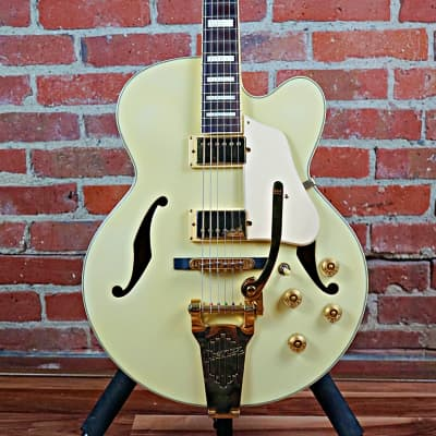Ibanez AF75TDG-IV Artcore Series Hollowbody Electric Guitar Ivory 2004 W/Case (Audio Demo)