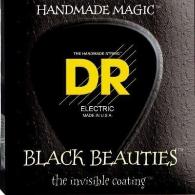 DR Strings BKE7-10 Black K3 Coated 7-String Electric Strings - Medium, 10-56 for sale