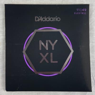 D'Addario NYXL1149 Nickel Wound Electric Guitar Strings Medium 11-49  2020 Standard