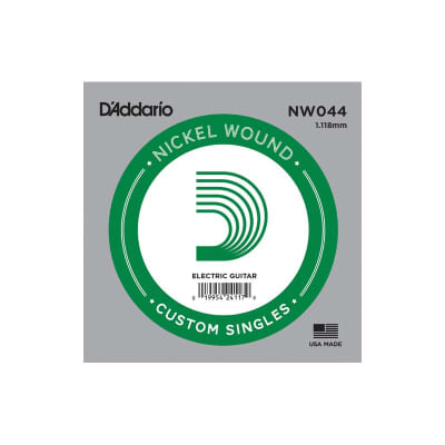 D'Addario Nickel Wound Electric Single String NW044