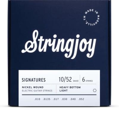 Stringjoy Signatures | Heavy Bottom Light Gauge (10-52) Nickel Wound Electric Guitar Strings