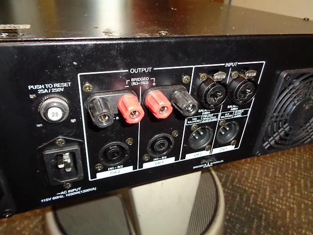 used Samson S1500 750w x 2 power amplifier