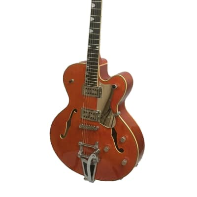 Alden AD Western Star Semi Acoustic Guitar Classic Orange Jazz Archtop Hollow Body Electric Guitar for sale