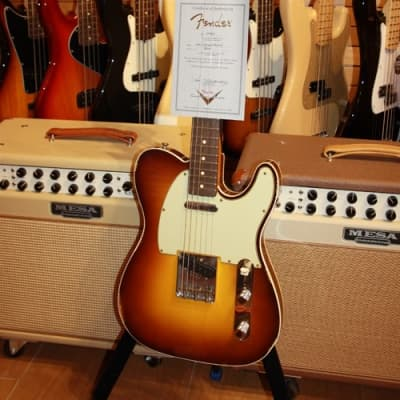 Fender Custom Shop '60 Reissue Telecaster Custom Relic 2015 3 Tone Chocolate Sunburst for sale