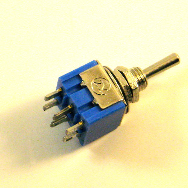 1 x Mini Toggle Switch DPDT On-Off-On  | Dave's Guitar Gear