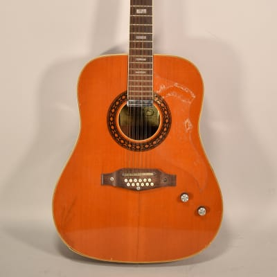 1960's Eko Ranger E 12-String Vintage Acoustic Electric Guitar Natural Finish Made In Italy for sale