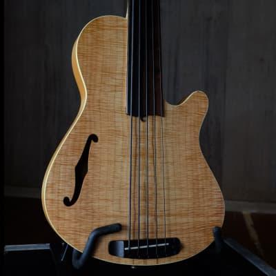 Rob Allen Guitars Deep 5 fretless bass guitar w G&G OHSC (7.5 pounds, Brazilian rosewood) for sale