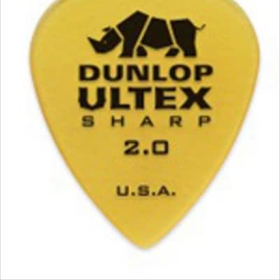 Dunlop Ultex Sharp Guitar Picks - 2.0mm - 6 Pack image