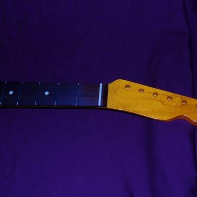 21 fret 7.25 V Closet Classic Telecaster Allparts Fender Licensed Maple neck (fits mjt, nash body) for sale