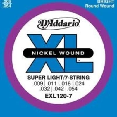 D'Addario EXL120 7-String Electric Guitar Strings - Super Light