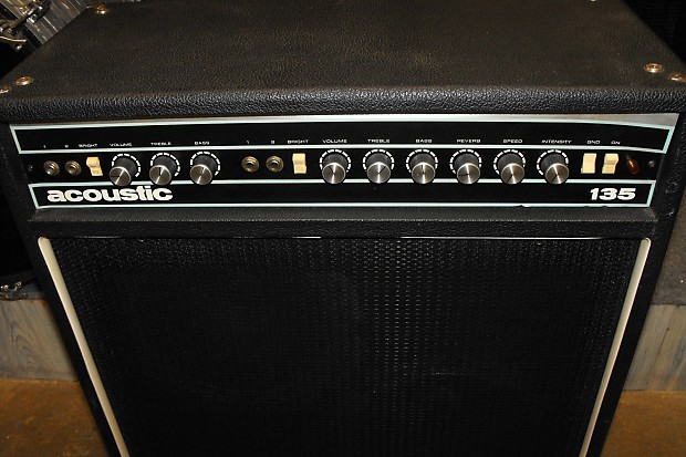 acoustic 135 2x12 guitar combo 125 watts reverb and tremolo reverb. Black Bedroom Furniture Sets. Home Design Ideas