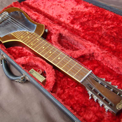 Audiovox Rare 7 String Lap Steel Guitar 1940's Brown for sale