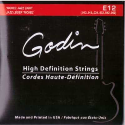 Godin E 12 Jazz   Corde Per Chitarra Elettrica   Nickel