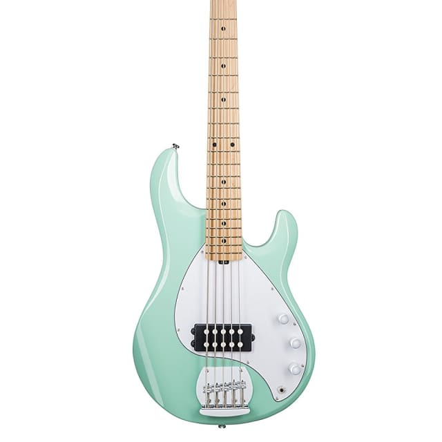 Ernie Ball Music Man StingRay5 5-String Bass Guitar Mint Green image