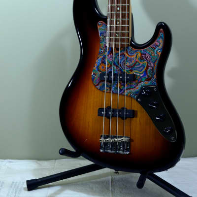 2007 Fender American Deluxe Jazz Bass 4 string 3 tone sunburst Sadowsky Electronics for sale