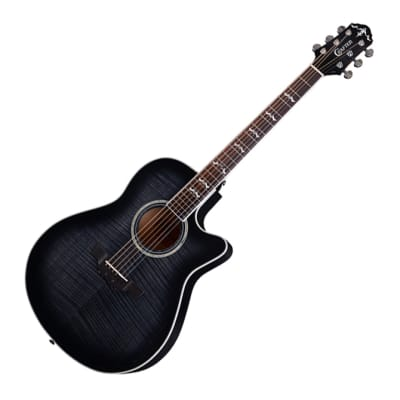 Crafter Noble Small Jumbo Flame Maple Trans Black Gloss 25.5