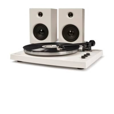 Crosley T150 Turntable System - White with speakers and more
