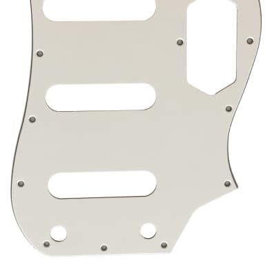 For Fender 3-Ply Squier Vintage Modified Bass VI Guitar Pickguard Scratch Plate, White