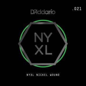 D'Addario NYXL Nickel Wound Electric Guitar Single String .021