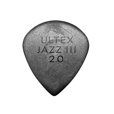 Dunlop 472P20 Ultex Jazz III 2.0mm Guitar Picks (6-Pack)
