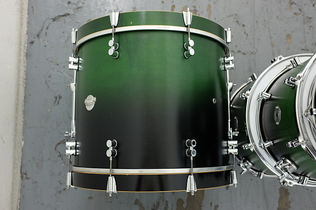 Pdp Platinum Series Drum Kit 20 16 14 12 Green Black Fade