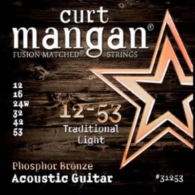NEW Curt Mangan Phosphor Bronze Acoustic Strings - Light - .012-.053