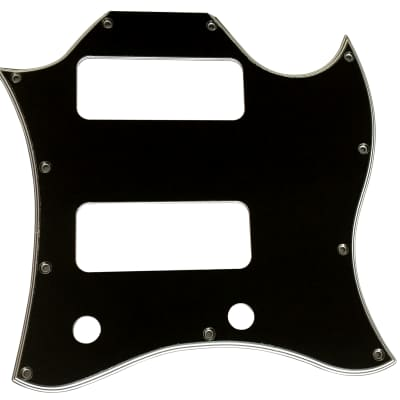 For Gibson US SG P90 Without Pickup Mounting Hole Style Guitar Pickguard,5 Ply Black