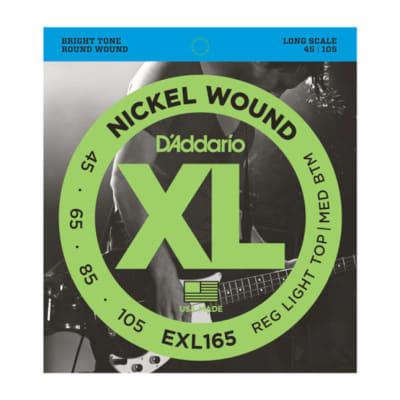 D'Addario EXL165 Nickel Wound Bass Strings, Custom Light, 45-105, Long Scale