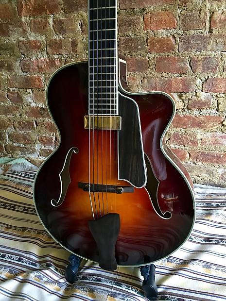 eastman 7 string ar805ce 7 805 archtop hollowbody jazz guitar reverb. Black Bedroom Furniture Sets. Home Design Ideas