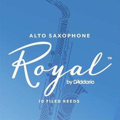 Rico Royal Alto Saxophone Reeds Strength 2-1/2, Box of 10