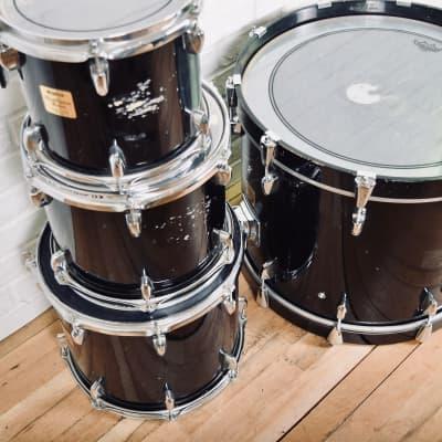 Yamaha Birch Custom Absolute 4 piece drum set in good condition