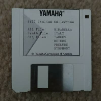 Yamaha SY77 Italian Collection Data Disk