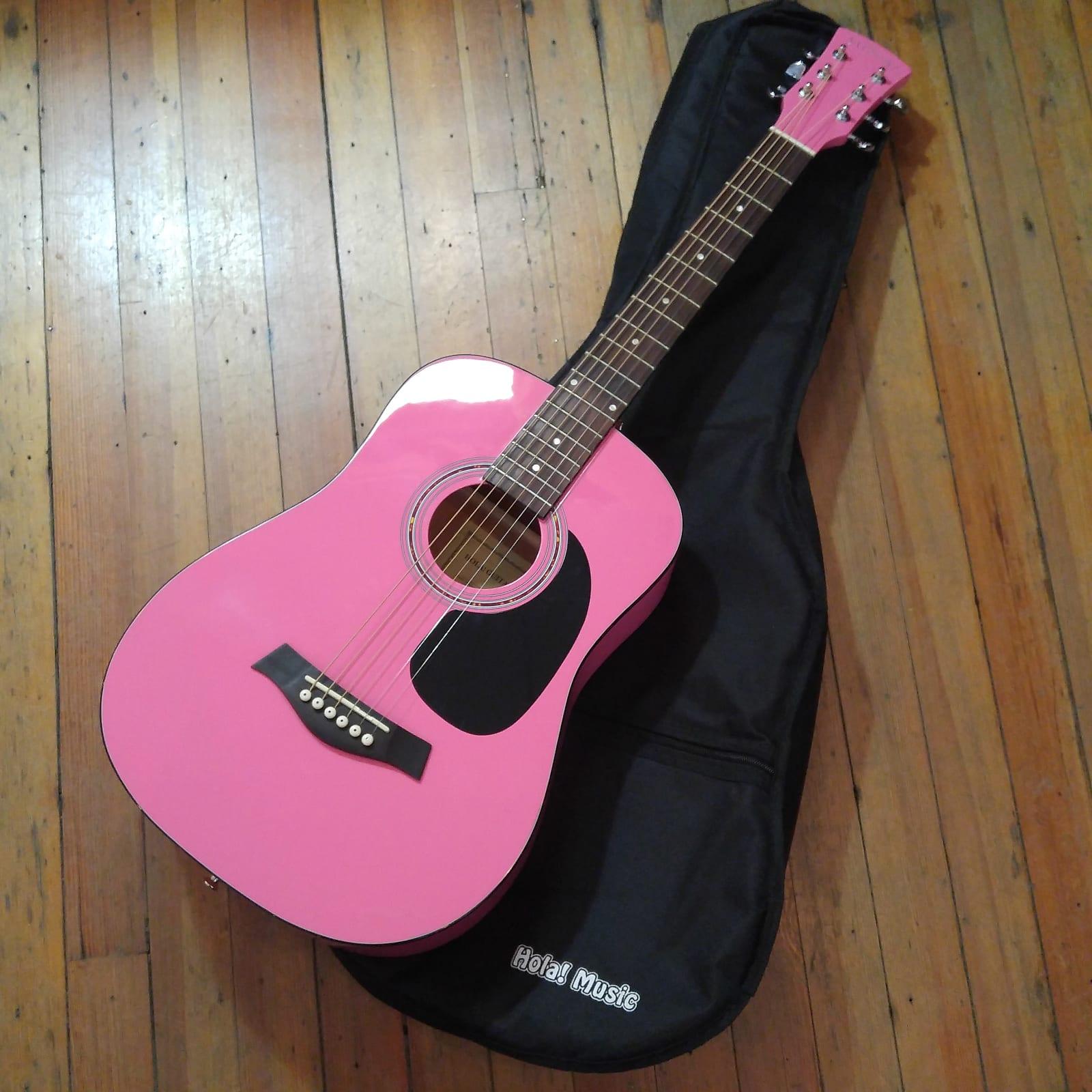 Hola Guitars HG-36PK Parlor Acoustic 2018 Pink #184901516 w