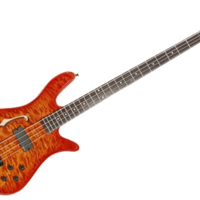 Spector SpectorCore 4 Amber Burst Fretted Electric  Bass w/ F Hole for sale