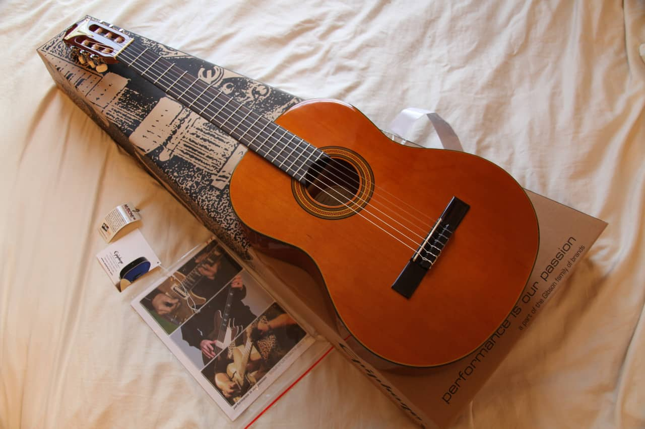 epiphone pro 1 nylon string classical guitar 2 inch nut reverb. Black Bedroom Furniture Sets. Home Design Ideas