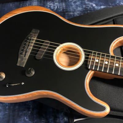 MINT! Fender American Acoustasonic Stratocaster - Black Finish - Deluxe Gig Bag - Authorized Dealer