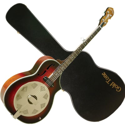 Gold Tone DOJO DLX Acoustic Body Deluxe Resonator 5-String Banjo with Hard Case & Pickup