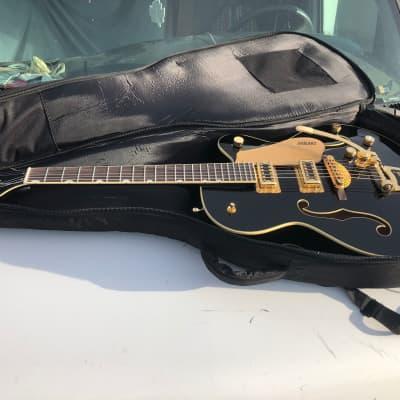 Gretsch G5420TG Black Gold Hollow Bigsby Electric Guitar w/ Case NICE